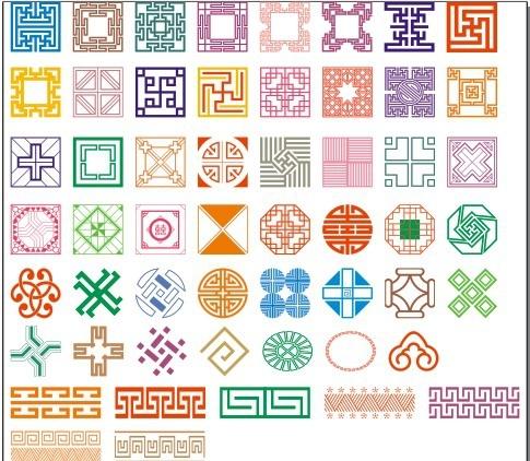 50 kinds of classical pattern Free CDR Vectors Art
