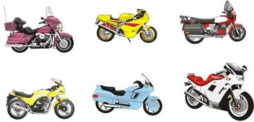 6 models vector motorcycle Free CDR Vectors Art