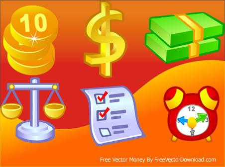 6 free vector money icons Free CDR Vectors Art