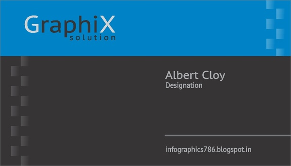 A memorable black background business card Free CDR Vectors Art