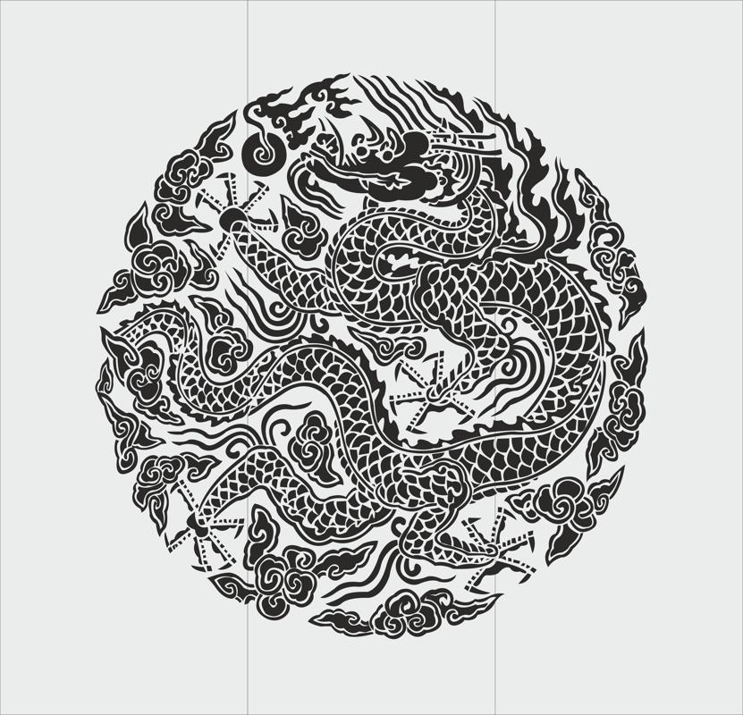 Chinese dragon totem style Free CDR Vectors Art