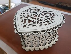 Classic Heart Shaped Wooden Box File Download For Laser Cut Free CDR Vectors Art