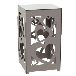 Heart Standing Box File Download For Laser Cut Free CDR Vectors Art