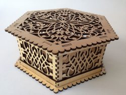 Hexagon Wooden Box File Download For Laser Cut Free CDR Vectors Art