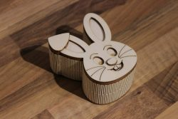 rabbit-shaped Box File Download For Laser Cut Free CDR Vectors Art