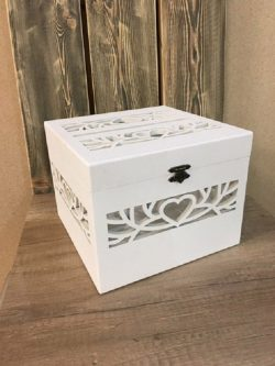 Wooden Box With Heart Engraving File Download For Laser Cut Free CDR Vectors Art