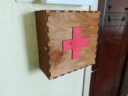 Wooden Medical Box File Download For Laser Cut Free CDR Vectors Art