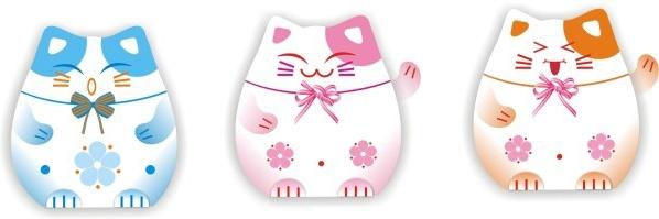 Japanese lucky cat Free CDR Vectors Art