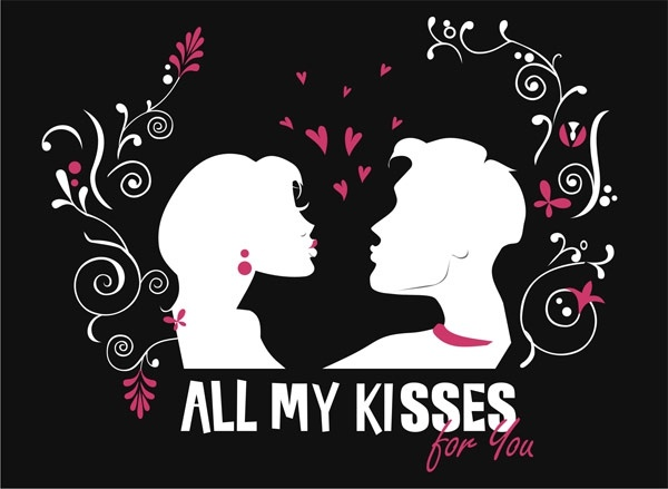 Give you all my kisses Free CDR Vectors Art