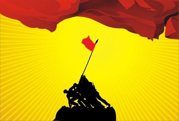 Changzheng red flag Free CDR Vectors Art