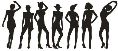 People silhouettes 179788 Free CDR Vectors Art