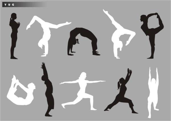 Yoga silhouette Download Free CDR Vectors Art