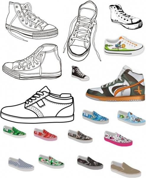 Canvas shoes Free CDR Vectors Art