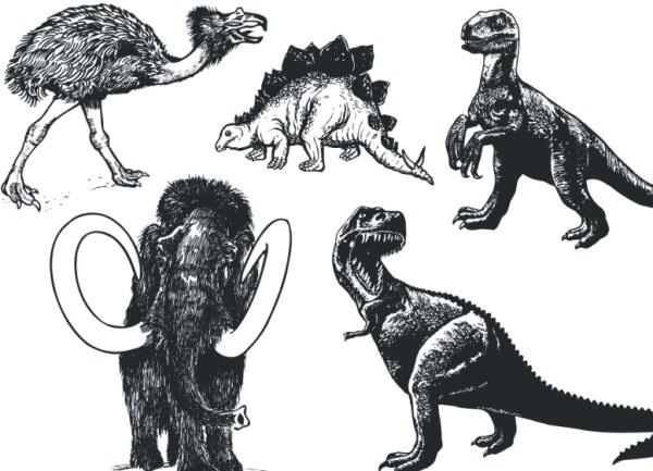 Prehistoric animals Free CDR Vectors Art