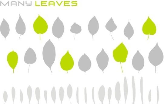 Various leaves Free CDR Vectors Art