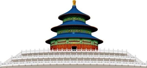 The Temple of heaven Free CDR Vectors Art