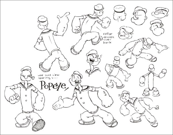 Popeye official who set up Free CDR Vectors Art