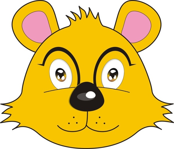 fox bear avatar Free CDR Vectors Art