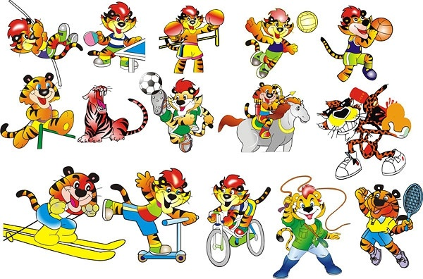 Cartoon tiger -179849 Free CDR Vectors Art