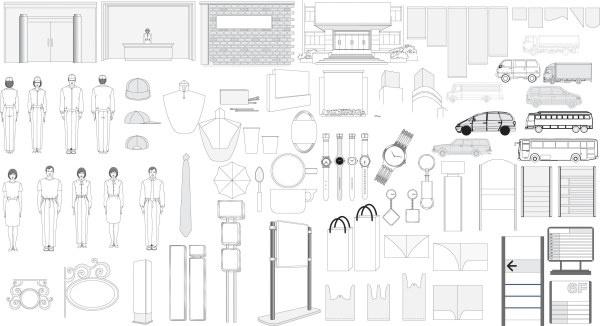 Comprehensive vi element Free CDR Vectors Art