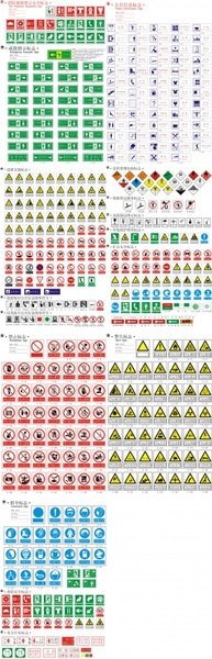 Safety warning prohibition signs Free CDR Vectors Art