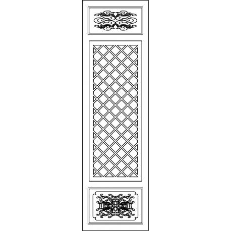 Cnc Panel Laser Cut Pattern File cn-l41 Free CDR Vectors Art