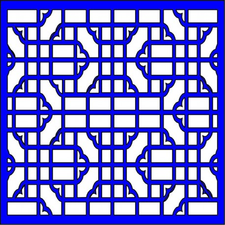 Cnc Panel Laser Cut Pattern File cn-l9 Free CDR Vectors Art