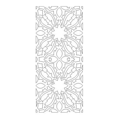 Cnc Panel Laser Cut Pattern File cn-h386 Free CDR Vectors Art