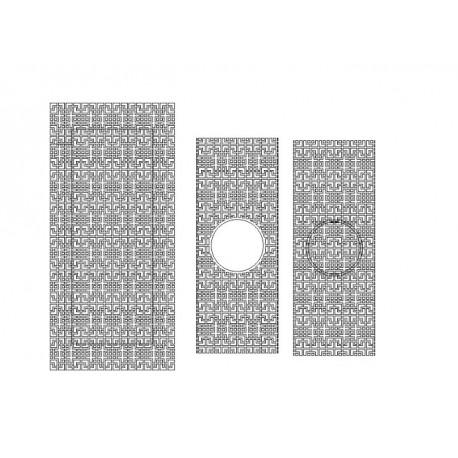 Cnc Panel Laser Cut Pattern File cn-h364 Free CDR Vectors Art