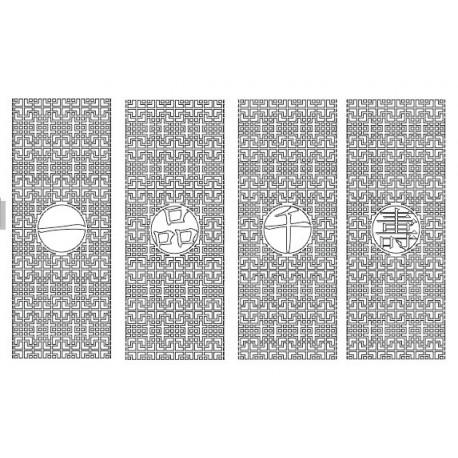 Cnc Panel Laser Cut Pattern File cn-h363 Free CDR Vectors Art