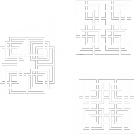 Cnc Panel Laser Cut Pattern File cn-h343 Free CDR Vectors Art