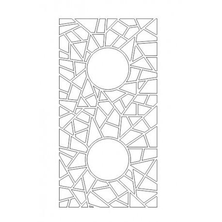 Cnc Panel Laser Cut Pattern File cn-h336 Free CDR Vectors Art