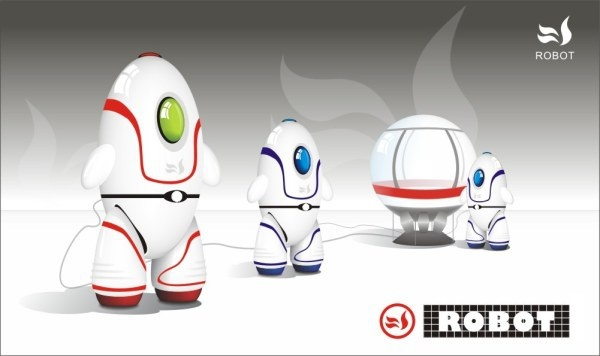Robot Free CDR Vectors Art
