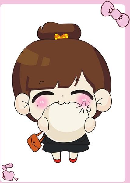 Cute girls Cartoon Free CDR Vectors Art