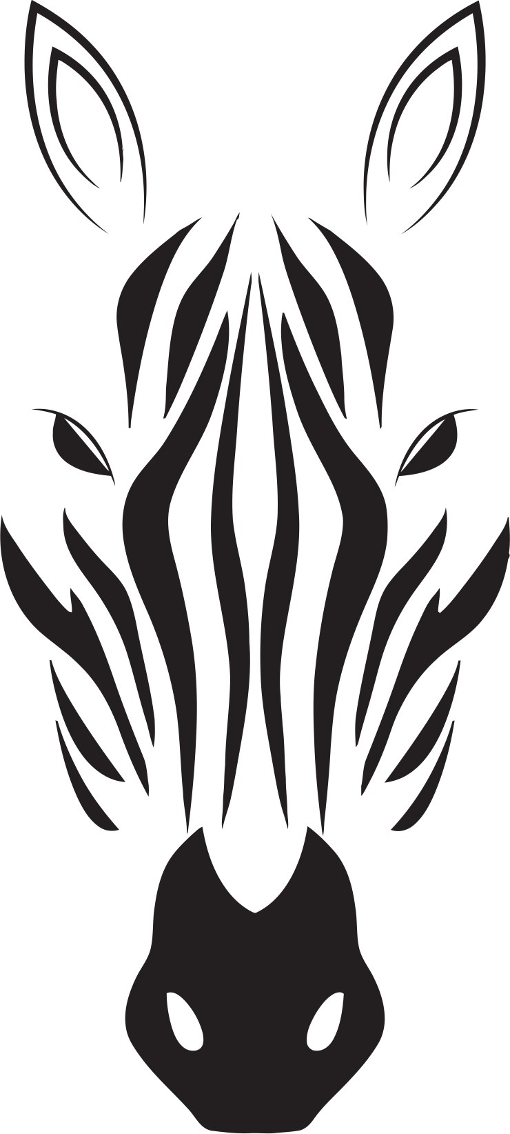 Zebra Head Free CDR Vectors Art