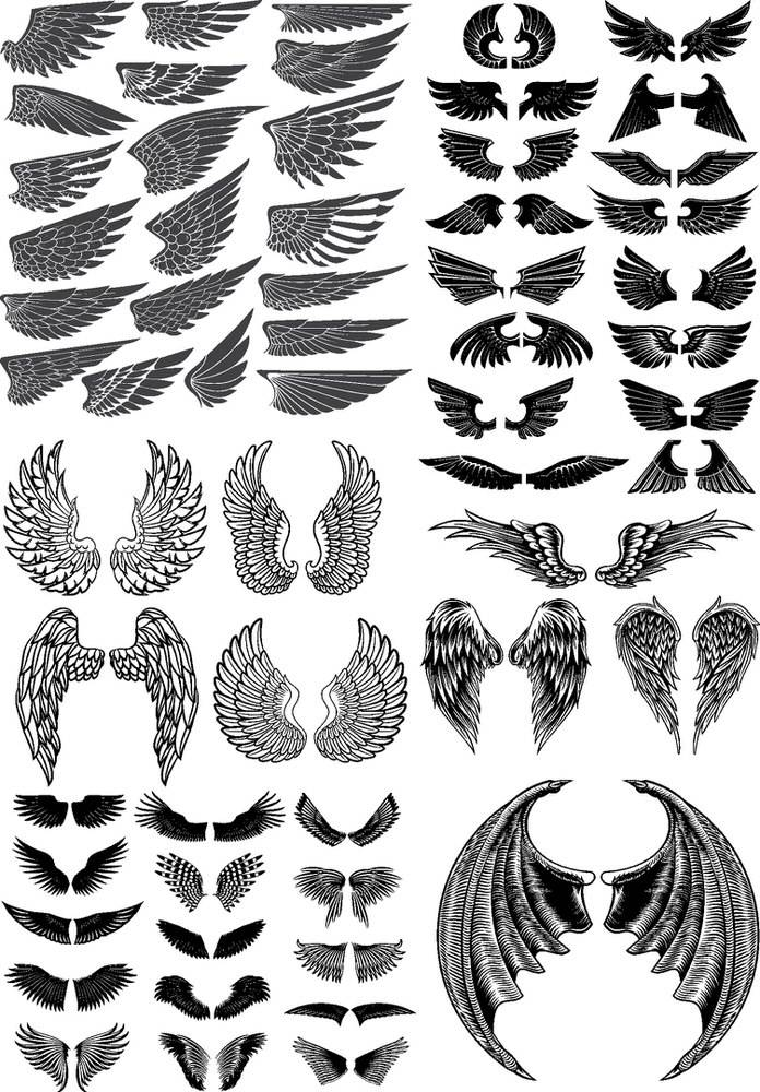 Wings Pack Free CDR Vectors Art
