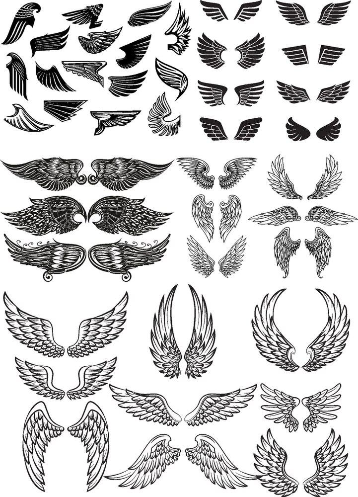 Wings New Set Free CDR Vectors Art