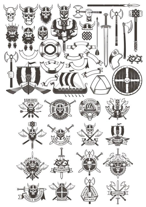Viking Elements Free CDR Vectors Art