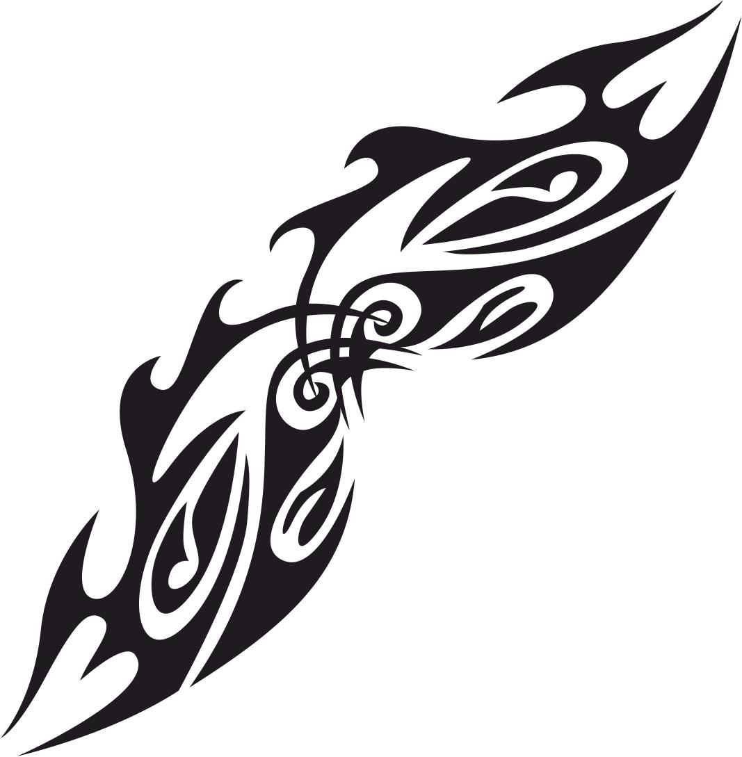 Tribal Tattoo Design Classic Free CDR Vectors Art