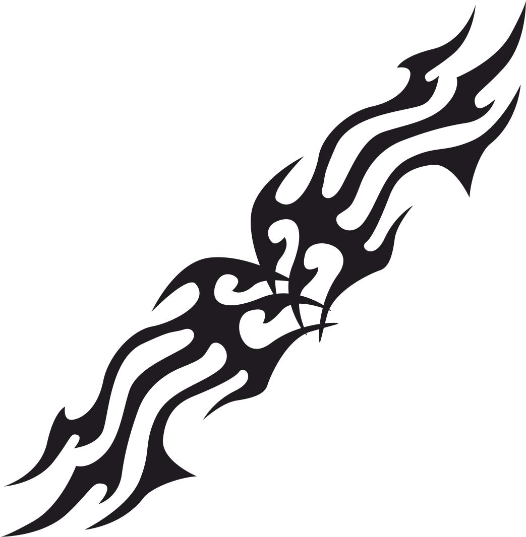 Tribal Flames Free CDR Vectors Art