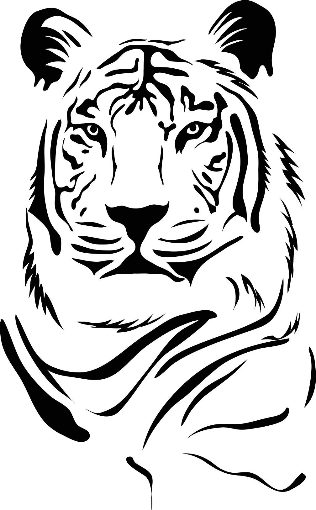 Tiger Stencil Free CDR Vectors Art