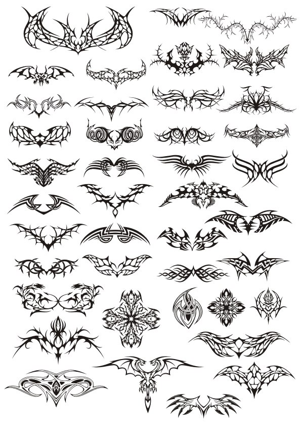 Tattoos Design Pack Free CDR Vectors Art