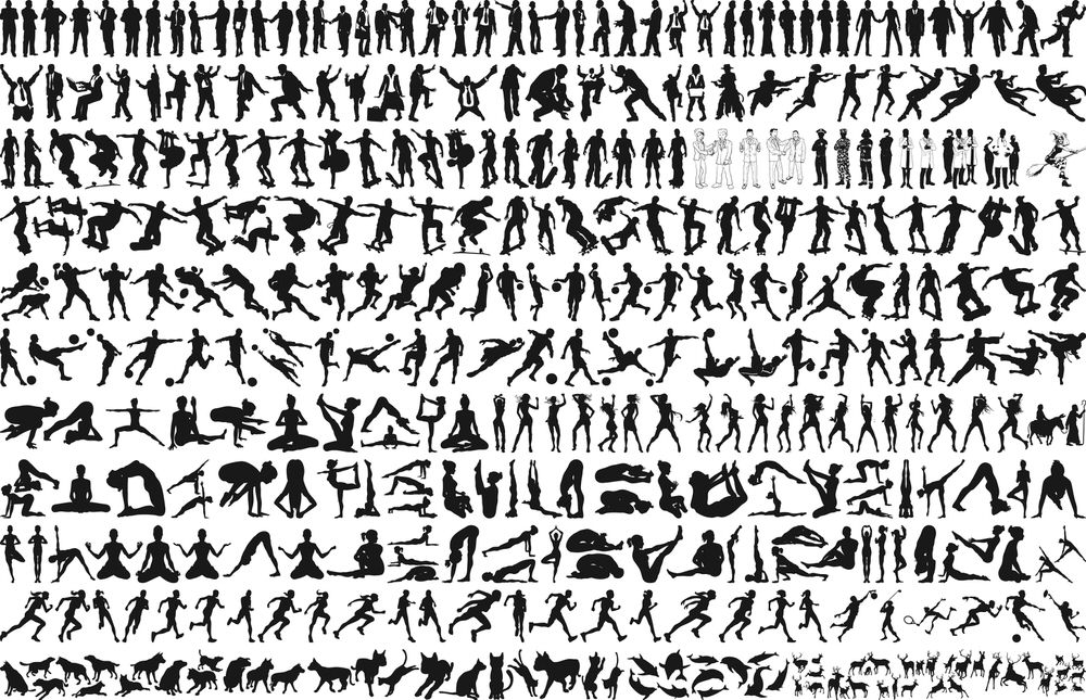 Sport Silhouette Collection Free CDR Vectors Art