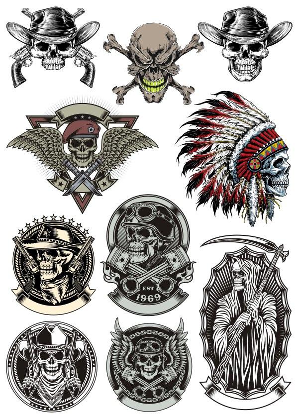 Skull Vector Collection Free CDR Vectors Art