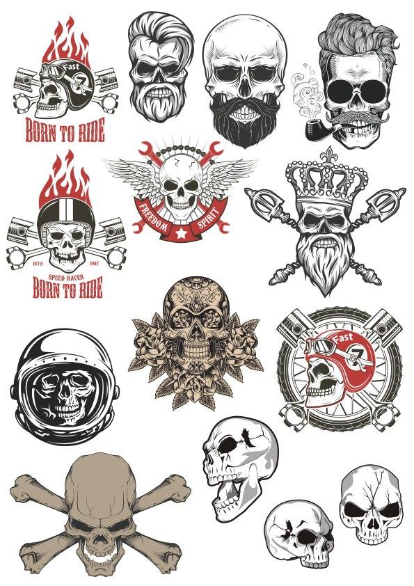 Skull Motorclub Stock Free CDR Vectors Art