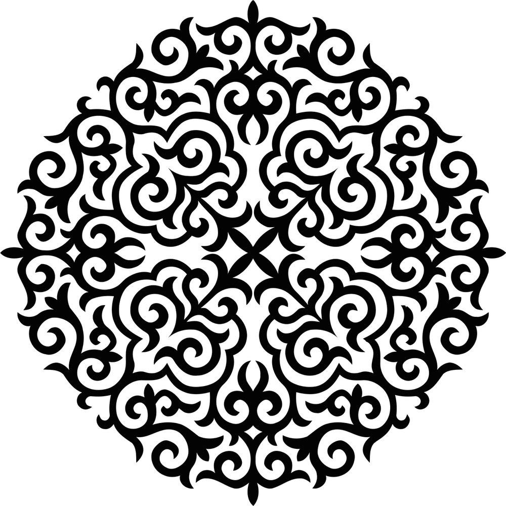 Ornament Stencil Free CDR Vectors Art