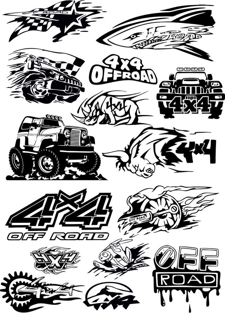 off-road Vehicle Free CDR Vectors Art