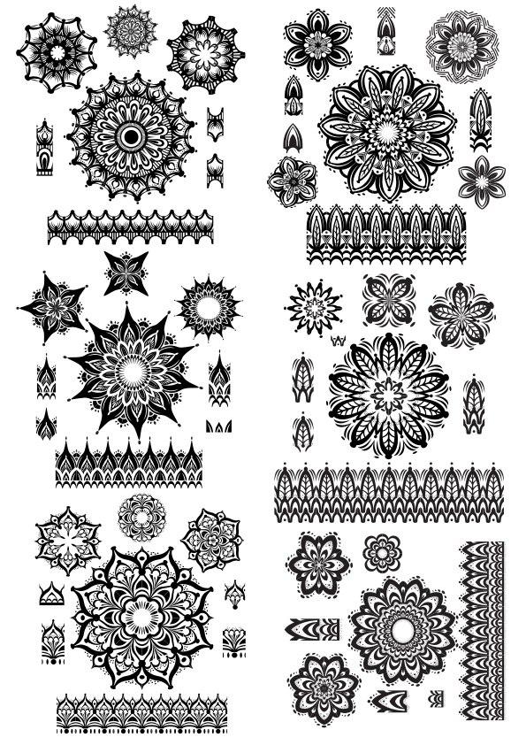 Mandala Ornament Set Free CDR Vectors Art