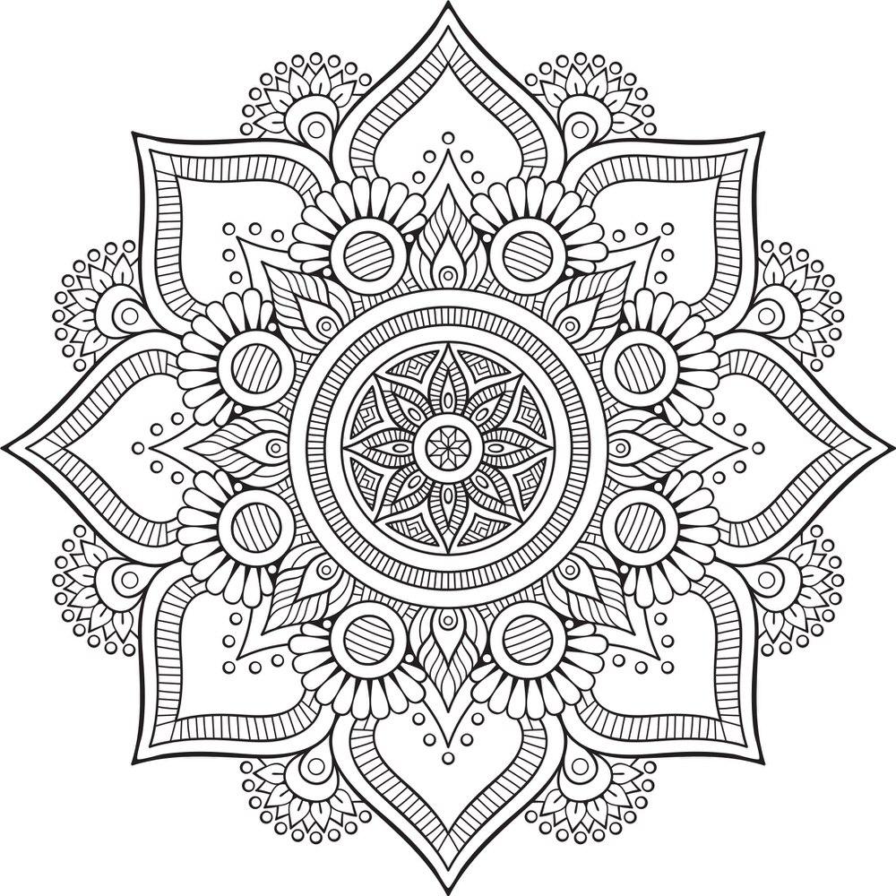 Mandala Floral Tattoo Design Free CDR Vectors Art