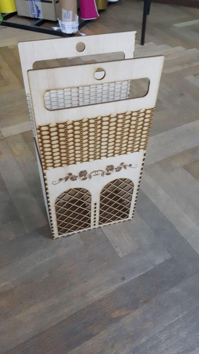 Korobka Pod Shampanskoe Box Laser Cut Free CDR Vectors Art
